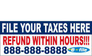 Income Tax Banners-Vinyl-Outdoor 2400