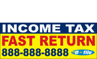 Income Tax Banners-Vinyl-Outdoor 2700