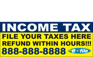 Income Tax Banners-Vinyl-Outdoor 2800