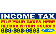 Income Tax Banners-Vinyl-Outdoor 2900