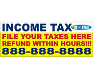 Income Tax Banners-Vinyl-Outdoor 3100