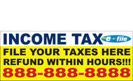 Income Tax Banners-Vinyl-Outdoor 3200