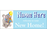 Welcome Home Baby Boy Banner Sign Vinyl 7