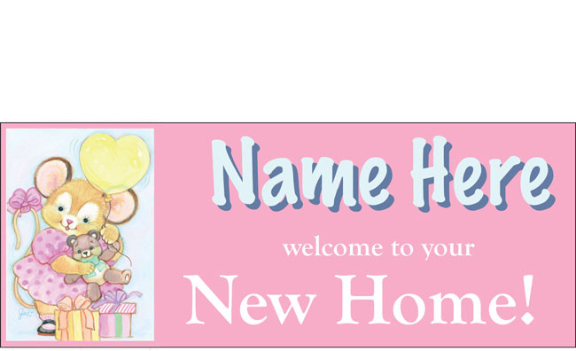 welcome home baby girl banner sign vinyl design 8 dpsbanners com