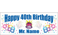 Birthday Banner Sign Vinyl 18
