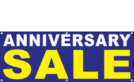 Anniversary Sale Banner Signs Design 1400