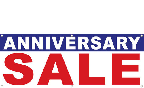 Anniversary Sale Banner Sign Design style 1800