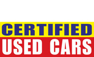 Certified Used Car Banner Sign Style 1000