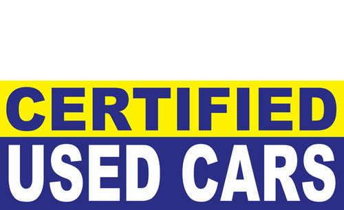 Certified Used Car Banner Sign Style 1600