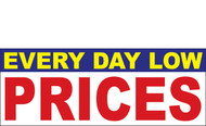 Everyday Low Prices Banner Sign Style 1000
