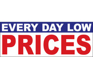 Everyday Low Prices Banner Sign Style 1100