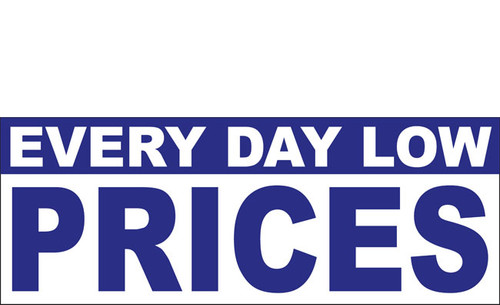 Everyday Low Prices Banner Sign Style 1200