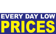 EVERY DAY LOW PRICES BANNER SIGN STYLE 1400