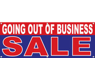 Going Out of Business SALE Vinyl Banner Sign Style 1200