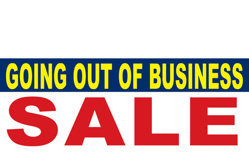 Going Out of Business Sign Banner
