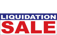 Liquidation Sale Vinyl Banner Sign style 1000 in White, Blue and Red