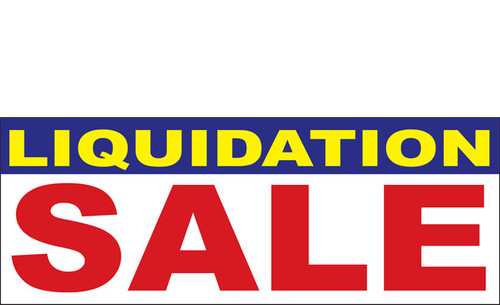 Liquidation Sale Banner design style 1100 in Red, White and Blue