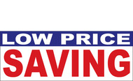 Low Price Saving Banner Sign 1200