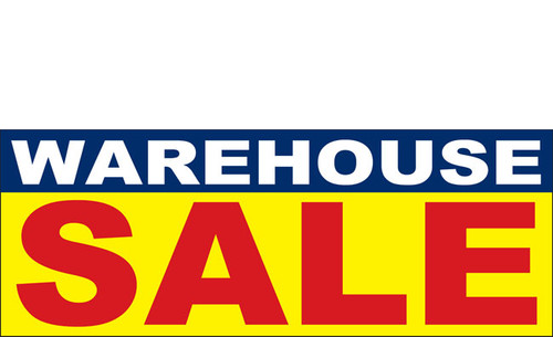Multi-Color Warehouse Sale Advertising Banner Sign  Style 1000