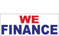 We Finance Outdoor Vinyl Banner Sign Style 1000