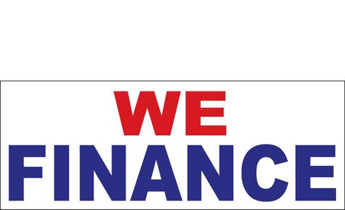 We Finance Outdoor Vinyl Banner Sign Style 1000