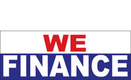 We Finance Vinyl Banner Sign Style 1100 - Multi Color