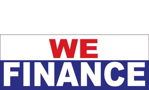 We Finance Vinyl Banner Sign Style 1100 - Multi Color