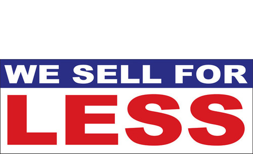 We Sell For Less Retail Store Advertising Banner Sign Style 1200
