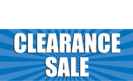 Clearance Banner Sign 1000