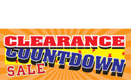 Clearance Banner Sign 1400