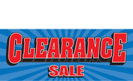 Clearance Banner Sign 1500
