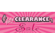 Clearance Banner Sign 1600