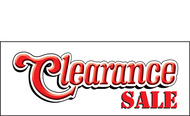Clearance Banner Sign 1700