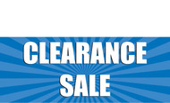 Clearance Banner Sign 1800