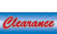 Clearance Banner Sign 1900
