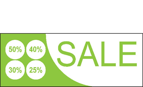 Sale Vinyl Banner Sign for Retail Store with Different Percentage Style 1900