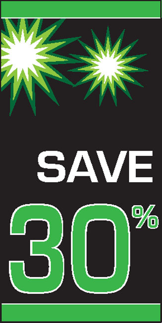 Sale 30% OFF Vertical Vinyl Banner Sign Style 2500