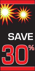 Sale Percentage OFF Vertical Vinyl Banner Sign Style 2600