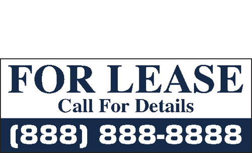 For Lease Banner Sign Vinyl Style 1500