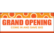 Grand Opening Banner Sign style 2100