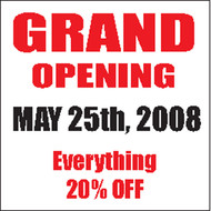 Grand Opening Banner Sign Square Style 2700
