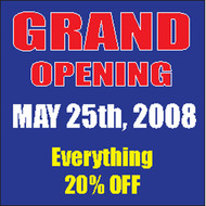 Grand Opening Banner Sign Square Style 2800