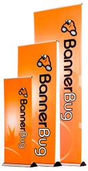 "Banner Bug 33"" Banner Stand, Retractable Roll Up"