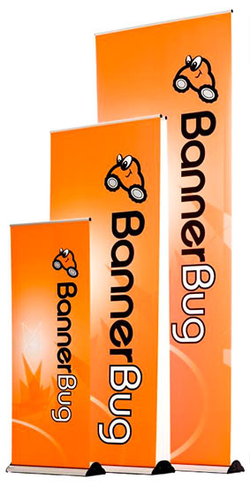 """Banner Bug 39"""" Banner Stand, Retractable Roll Up"""