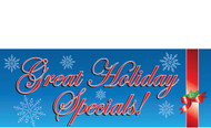 Blue Great Holiday Specials Advertising Banner sign Style 1100