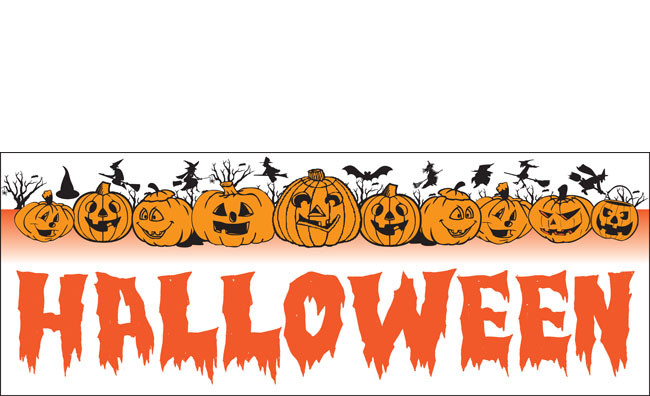 Halloween Banners Vinyl Signs Style Design Id 1700