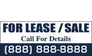 For Lease Banner Sign Vinyl Style 1800