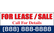 For Lease or Sale Banner Sign Vinyl Style 1900
