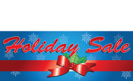 Blue Gift Wrapped Holiday Sale Banner Style 1200