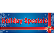 Blue Holiday Specials Advertising Banner Sign Style 1300